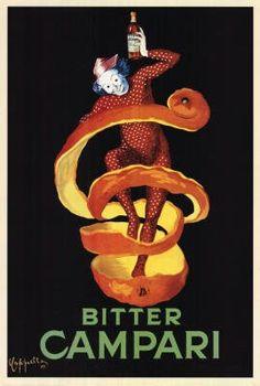Bitter Campari, c.1921 Poster Poster Print, 24x36 | Price:$7.07 & FREE Shipping