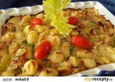 Gnocchi po česku - se zelím a slaninou Gnocchi, Rice Noodles, Potato Salad, Cauliflower, Macaroni And Cheese, Shrimp, Cabbage, Food And Drink, Treats