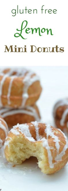 These gluten free lemon mini donuts are delicious bite-sized donuts that are packed full of flavor. Easy to make in a donut maker or pan. Recipe at http://www.fearlessdining.com via @fearlessdining