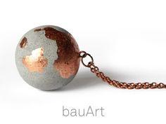 Beton Kette Kugel *kupfer* von bauArt auf DaWanda.com