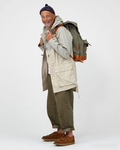 Nigel Cabourn – Always Smiling – Men Styles Military Fashion, Mens Fashion, Military Style, Nigel Cabourn, Looks Style, Work Wear, Casual, Cool Outfits, Winter Fashion