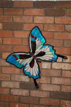 Mosaic butterfly - the iridescent glass is beautiful in the correct light.