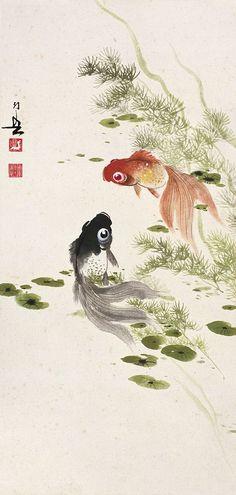 #MasterHuangHuanWu #ChineseInkPainting #BrushPaintingGoldFish