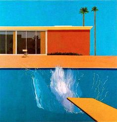 A Bigger Splash, (1967), David Hockney, peinture acrylique sur toile, 243x244cm, Londres, Tate Britain