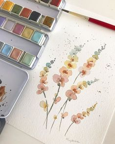 Best 11 abstract watercolor floral painting by lindsay megahed – SkillOfKing. Watercolor Cards, Abstract Watercolor, Watercolor Illustration, Watercolor Flowers, Watercolor Paintings, Watercolors, Watercolor Projects, Watercolor Artists, Abstract Oil