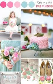pink and mint wedding theme