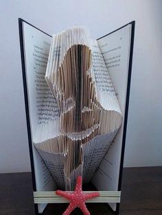 Book folding art pattern for a Mermaid by LoveInTheFold on Etsy