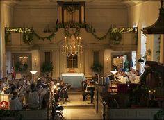 Bruton Parish Church at Christmas, Williamsburg, Virginia