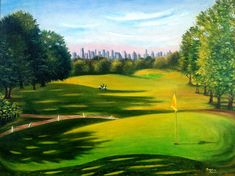 Golf Course At Forest Park Painting