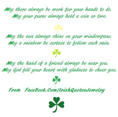 Irish Blessings From: https://www.facebook.com/ChristianQuotesBibleQuotes  #irishblessing #irishblessings