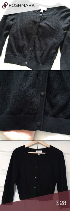 Black cardigan Black cardigan from Elle. Hits at the waist. EUC. Elle Sweaters Cardigans