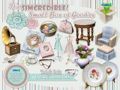 Granny's Greatest Hits clutter by SIMcredible! at TSR via Sims 4 Updates