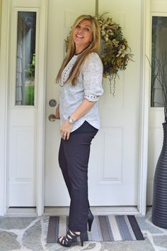 Blouse and pants from Stichfix