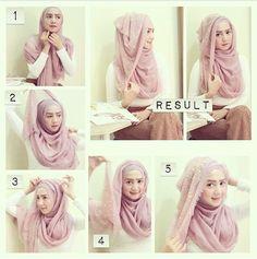 Glam Hijab Tutorial in 5 Steps