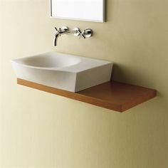 Håndvask firkantet Nino i et meget smukt design og er til væg el bordplade