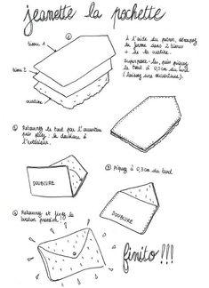 Gadgets 226376318756314447 - Tuto : coudre une pochette en forme d'enveloppe – Deco.fr Source by latitiaandlauer Diy Sewing Projects, Sewing Projects For Beginners, Sewing Hacks, Sewing Tutorials, Sewing Patterns, Sewing Tips, Tutorial Sewing, Diy Couture, Couture Sewing