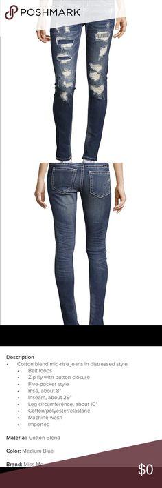 Miss me Skinny jeans NWT size 26 Miss me Skinny jeans NWT size 26 Miss Me Jeans Skinny