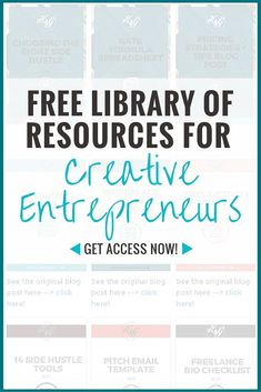Join the H&G Vault - your go-to resource library for creative entrepreneurs | Get instant access to templates, swipe files, strategies for growing your side hustle plus so much more! Click through to get access now!