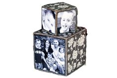 Cubed photo blocks, cute accent piece and perfect gift for Mother's Day (what Mom or Grandma doesn't LOVE pictures. Vinyl Crafts, Vinyl Projects, Wood Crafts, Craft Projects, Photo Projects, Diy Wood, Paper Crafts, Craft Kits, Diy Kits