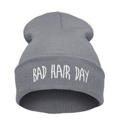 2016 Fashion New Unisex Women Mens Winter Bad Hair Day Snap Back Beanies Hat Knit Hip Hop Sport Warm Ski Cap