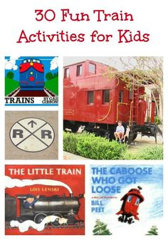 Train Fun for Kids 30 Great Train Activities, Books & Movies for Kids – fun idea for a train or railroad theme in the classroom! Train Activities, Learning Activities, Preschool Activities, Trains Preschool, Train Crafts, Transportation Unit, Cool Kids, Kids Fun, Tot School