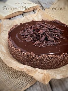 Cultured Mocha Cheesecake (raw, vegan, gluten-free)