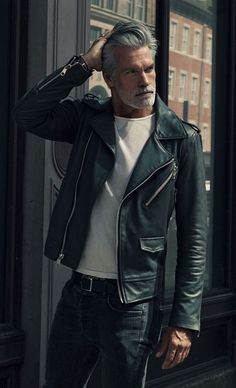 Olive Leather Biker jacket #thestylecity