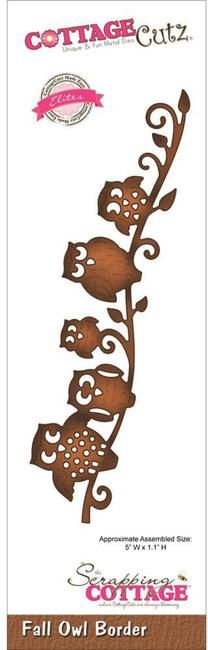"""Cottage Cutz Elites """"Fall Owl"""" Border Die Five Owls how cute is this? Kirigami, Paper Cutting, Die Cutting, Fall Owl, Paper Crafts, Diy Crafts, Scroll Saw Patterns, Silhouette Cameo Projects, Owl Art"""