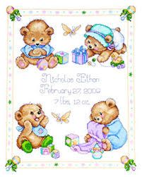 punto croce nascita schemi gratis