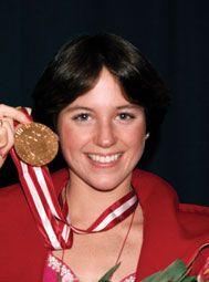 Dorothy Hamill - American gold medalist at 1976 Olympics held in Innsbruck for figure skating.