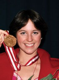 Dorothy Hamill - American gold medalist at 1976 Olympics held in Innsbruck for figure skating.