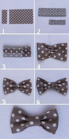 how to sew a fabric bow tie - Diy Sewing Projects Making Hair Bows, Diy Hair Bows, Diy Sewing Projects, Sewing Crafts, Sewing Tutorials, Diy Crafts, Sewing Baby Clothes, Creation Couture, Couture Sewing