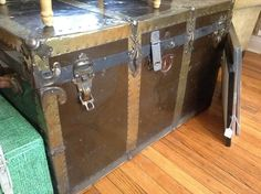 Black metal storage/coffee table trunk — Fixed price $150