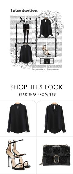 """""""Untitled #15"""" by jasminadela ❤ liked on Polyvore featuring Oris, Giuseppe Zanotti, Gucci and River Island"""