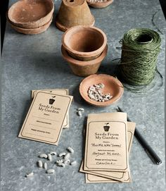 FREE printable: How to make your own personalized seed packets.