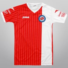 Camiseta Joma Argentinos Juniors Oficial 2015 Infantil - Rojo+Blanco 305fb956d98bf