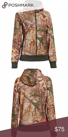 d076ce59b7673 Spotted while shopping on Poshmark: NWT UA Realtree Camo Hunting Hoodie Zip  Coldgear M!