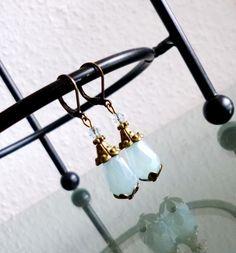 Ohrhänger - Ohrringe ♥ Edle Glastropfen (mond/bronze) - ein Designerstück von Your-Sweet-Dreams bei DaWanda