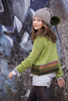 LANA GROSSA: Filati Kids & Teens 2 Modelle 72-73: Pullover (Alta Moda Alpaca & Medio) & Mütze (Alta Moda Cashmere) Grunge Look, Moda Lolita, Sewing Patterns, Crochet Patterns, Trends, Knit Crochet, Little Girls, Cashmere, Pullover