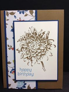 A Blooming with Kindness Birthday Card  Stampin' Up!