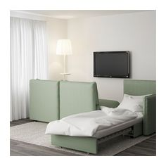Trend VALLENTUNA seat sofa with bed Hillared green IKEA
