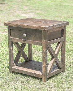 DIY Farmhouse nightstand overlindesigns on IG