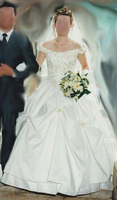 Robe de mariée romantique couleur ivoire