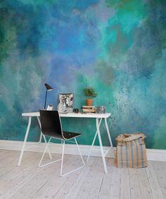 Wände & boden von rebel walls - Home Page Decor Room, Bedroom Decor, Master Bedroom, Wall Design, House Design, Bed Design, Watercolor Walls, White Decor, New Room