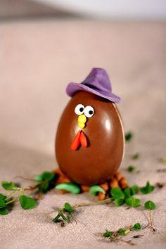Uovo di cioccolata galletto #Easter #Pasqua #chocolat #eggs #fondant #sugar #glutenfree #dolcipasticci
