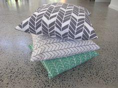 set of three cushions 45x45cm by belljarinteriors on Etsy, $175.00
