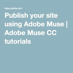 In this Adobe Muse video tutorial, learn how to use a Menu widget to automatically create a navigation system that lets you make changes quickly and easily. Muse Video, Adobe Muse, Tutorials, Ads, Learning, Digital, Studying, Education, Teaching
