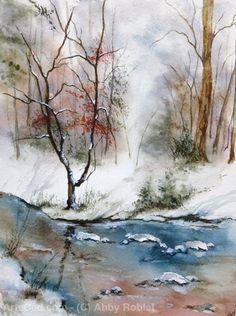 Произведения Искусства >> Abby Roblet >> Снег и вода