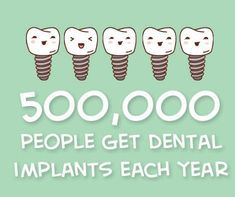 Dental implants come in different sizes, heights and types. OVer a half million people get dental implants every year.and that number is rapidly growing. Are you missing a tooth that needs to be replaced with an implant? Dental Implant Procedure, Implant Dentistry, Cosmetic Dentistry, Dental Implants, Dental Quotes, Dental Facts, Dental Hygiene, Dental Health, Oral Health
