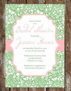 Bridal Shower Invitation - Lilly Pulitzer inspired